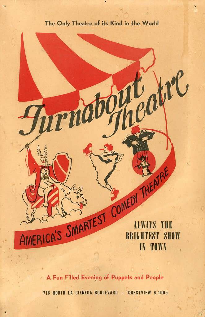 Yale Puppeteers Turnabout Theatre Broadside program